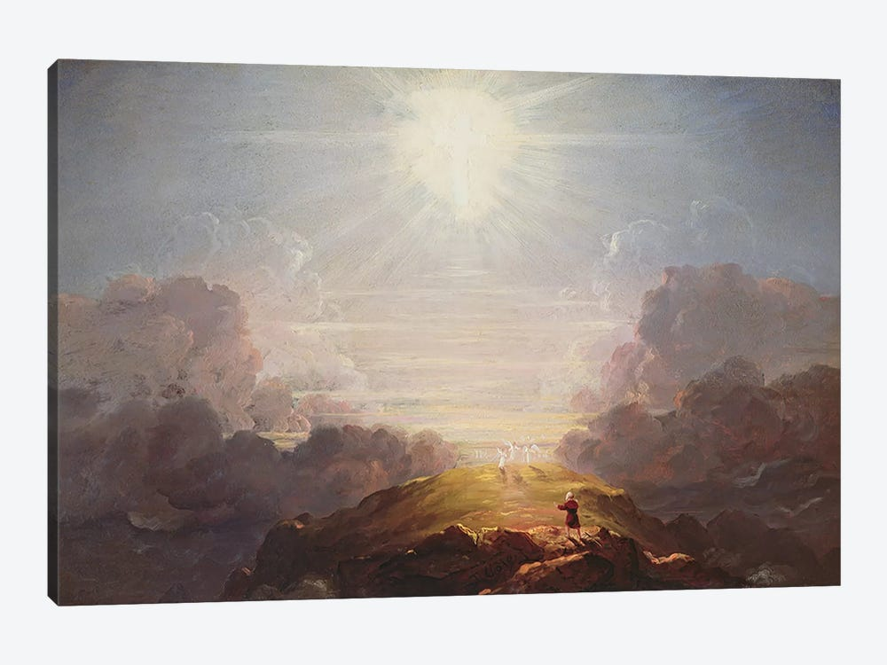 Study for the Cross and the World, c.1846  by Thomas Cole 1-piece Canvas Print