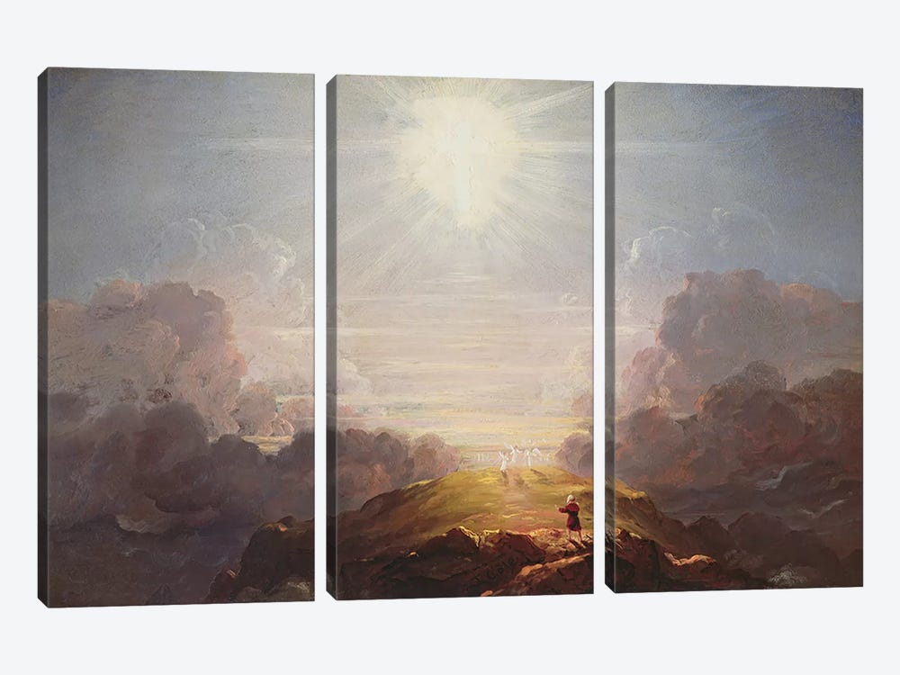 Study for the Cross and the World, c.1846 by Thomas Cole 3-piece Canvas Art Print