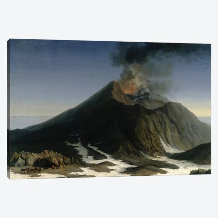 The Eruption of Etna  Canvas Print #BMN3098} by Jacob-Philippe Hackert Canvas Wall Art