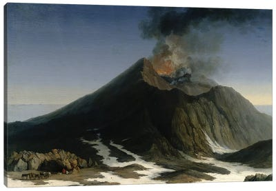 The Eruption of Etna  Canvas Art Print