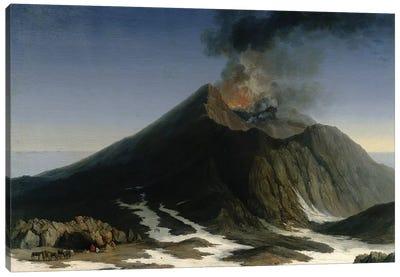 The Eruption of Etna  Canvas Art Print
