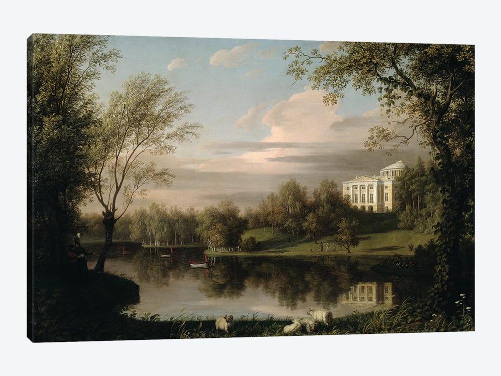 View of the Pavlovsk Palace, c.1800  by Carl Ferdinand von Kugelgen 1-piece Canvas Print