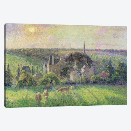 The Church and Farm of Eragny, 1895  Canvas Print #BMN309} by Camille Pissarro Art Print