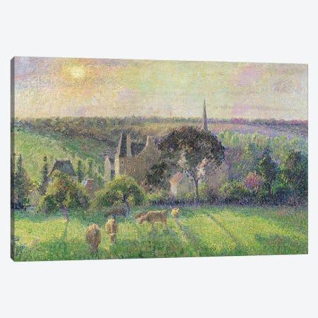 The Church and Farm of Eragny, 1895  Canvas Print #BMN309} by Camille Pissarro Art Print