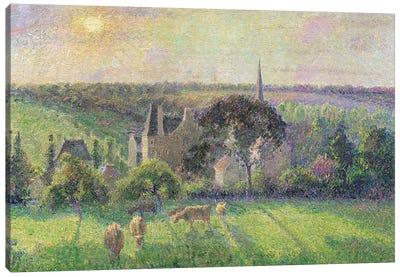 The Church and Farm of Eragny, 1895  Canvas Art Print