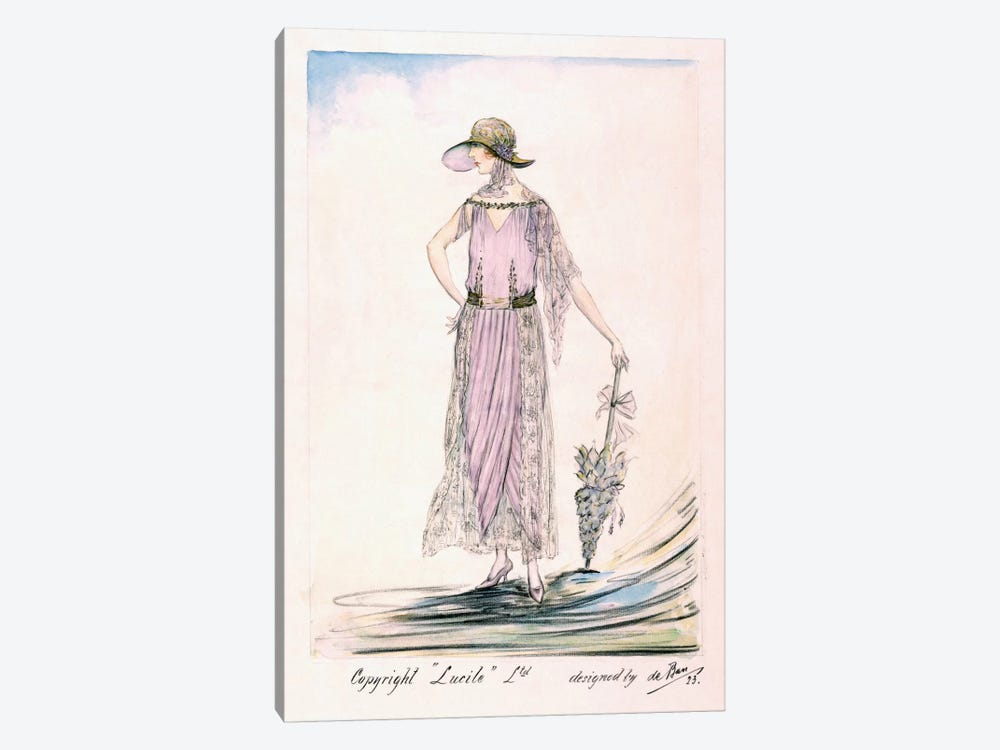 A day dress, 1923 (colour litho) by Unknown Artist 1-piece Art Print