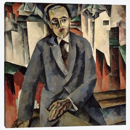 Portrait of the Regisseur Alexander J. Tairov  Canvas Print #BMN3100} by Aristarkh Vasilievic Lentulov Canvas Art