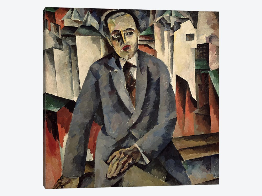 Portrait of the Regisseur Alexander J. Tairov  by Aristarkh Vasilievic Lentulov 1-piece Canvas Art
