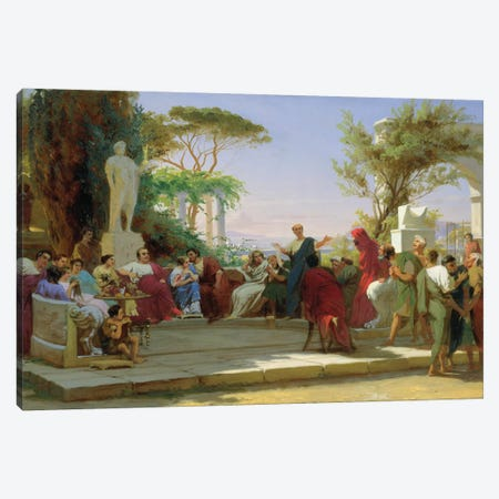 Horatius Reading his Satires to Maecenas, 1863  Canvas Print #BMN3107} by Fedor Andreevich Bronnikov Canvas Art Print