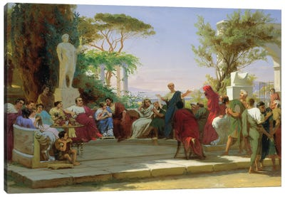 Horatius Reading his Satires to Maecenas, 1863  Canvas Art Print