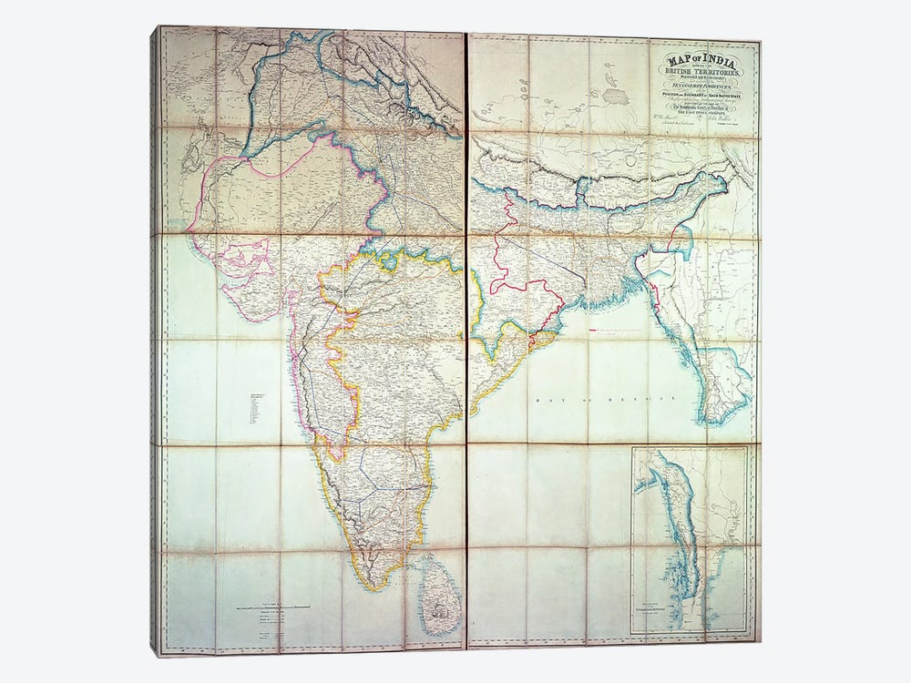 Map of India, 1857  by English School 1-piece Art Print
