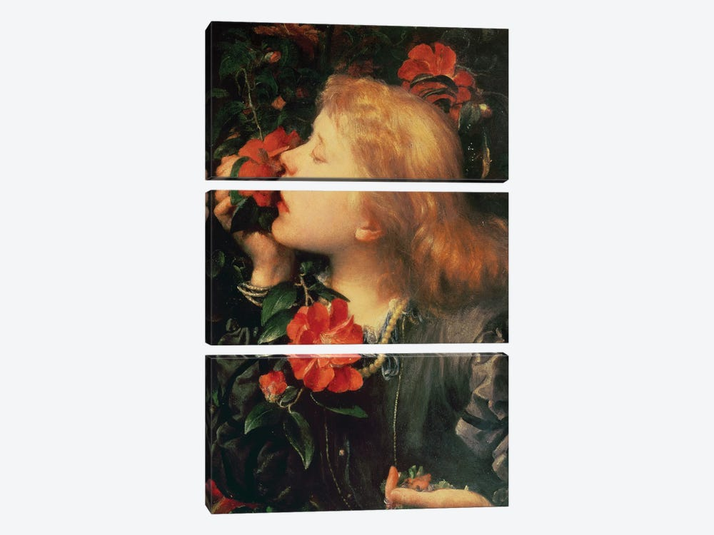 Portrait of Dame Ellen Terry  by George Frederick Watts 3-piece Canvas Art