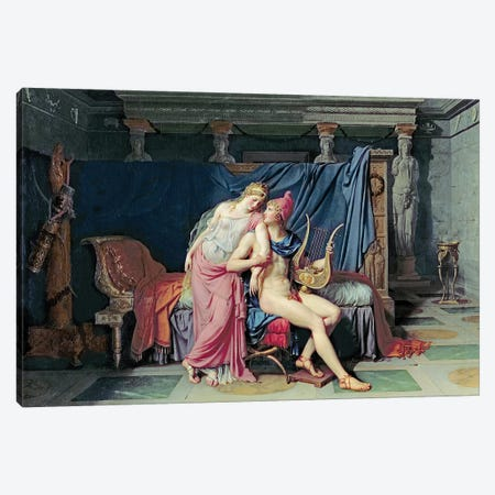 Paris and Helen  Canvas Print #BMN3118} by Jacques-Louis David Canvas Art Print