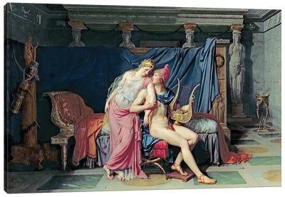 Paris and Helen  Canvas Art Print