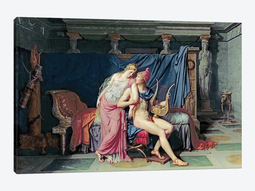 Paris and Helen  by Jacques-Louis David 1-piece Canvas Print