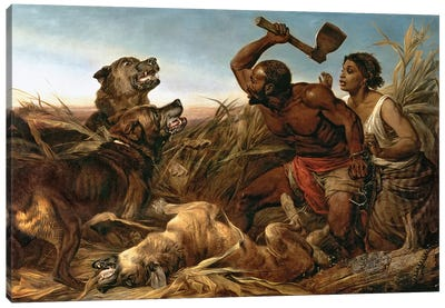 The Hunted Slaves, 1862  Canvas Art Print