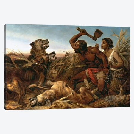 The Hunted Slaves, 1862  Canvas Print #BMN3124} by Richard Ansdell Canvas Print