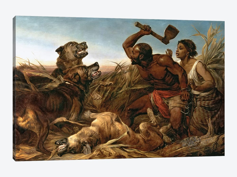 The Hunted Slaves, 1862  by Richard Ansdell 1-piece Canvas Art