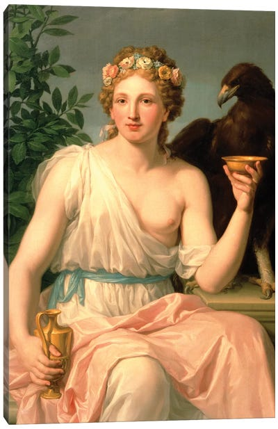 Hebe, 1784  Canvas Art Print