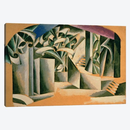 Stage design for William Shakespeare's play 'Romeo and Juliet', 1920  Canvas Print #BMN3128} by Lyubov Popova Canvas Artwork