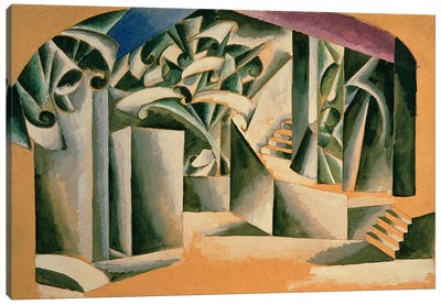 Stage design for William Shakespeare's play 'Romeo and Juliet', 1920  Canvas Print #BMN3128