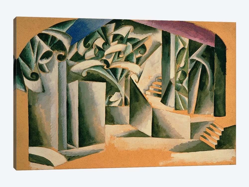Stage design for William Shakespeare's play 'Romeo and Juliet', 1920  by Lyubov Popova 1-piece Canvas Art