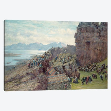 Althing in Session  Canvas Print #BMN3129} by William Gersham Collingwood Canvas Artwork