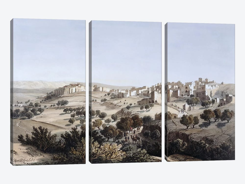 Bethlehem, engraved by Terry  by Dutch School 3-piece Canvas Art