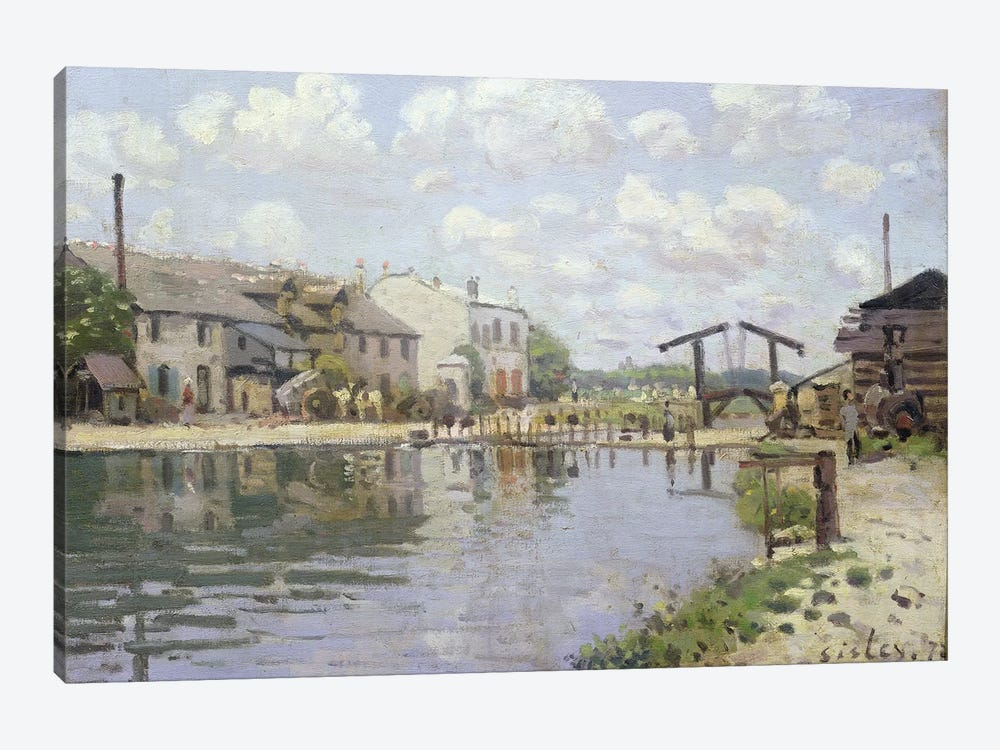The Canal Saint-Martin, Paris, 1872  by Alfred Sisley 1-piece Canvas Print