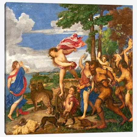 Bacchus and Ariadne, 1520-23   Canvas Print #BMN3140} by Titian Canvas Artwork