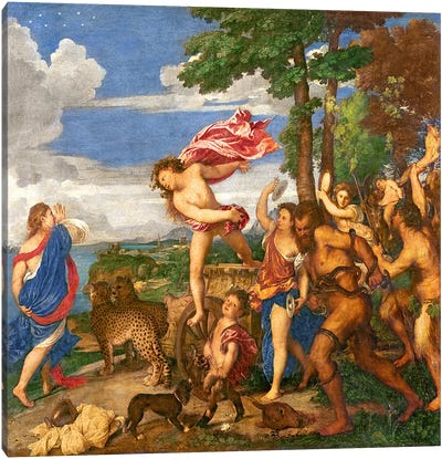 Bacchus and Ariadne, 1520-23   Canvas Art Print