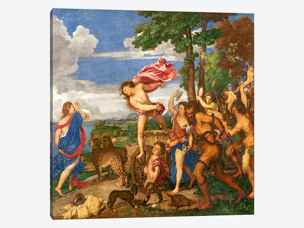 Bacchus and Ariadne, 1520-23   by Titian 1-piece Canvas Art