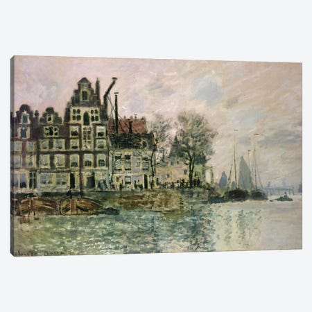 The Port of Amsterdam, c.1873  Canvas Print #BMN3149} by Claude Monet Canvas Art