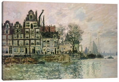 The Port of Amsterdam, c.1873  Canvas Art Print