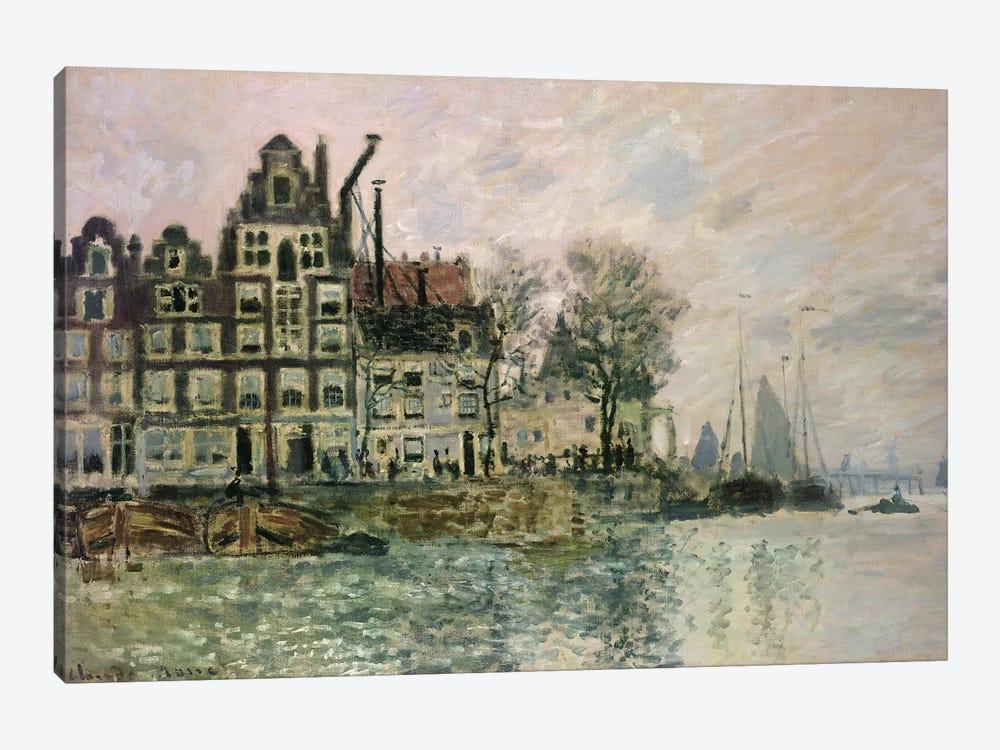 The Port of Amsterdam, c.1873  by Claude Monet 1-piece Canvas Art Print