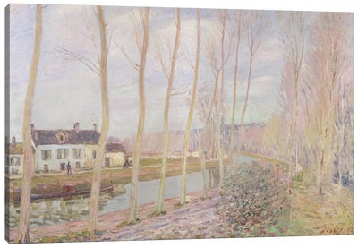 The Loing Canal, 1892  Canvas Art Print