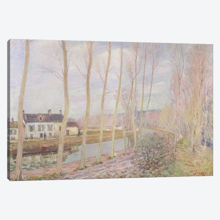 The Loing Canal, 1892  3-Piece Canvas #BMN314} by Alfred Sisley Canvas Print
