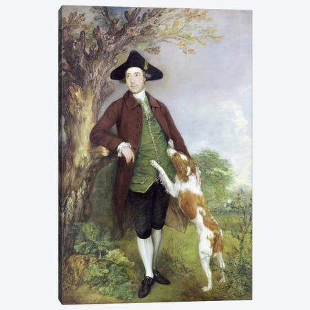 Portrait of George Venables Vernon, 2nd Lord Vernon, 1767   Canvas Print #BMN3150} by Thomas Gainsborough Canvas Print