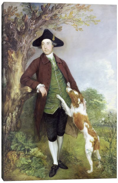 Portrait of George Venables Vernon, 2nd Lord Vernon, 1767   Canvas Art Print