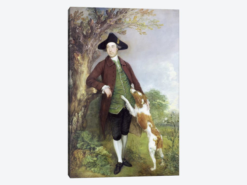 Portrait of George Venables Vernon, 2nd Lord Vernon, 1767 by Thomas Gainsborough 1-piece Canvas Art Print