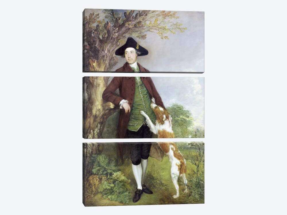 Portrait of George Venables Vernon, 2nd Lord Vernon, 1767   by Thomas Gainsborough 3-piece Canvas Art Print