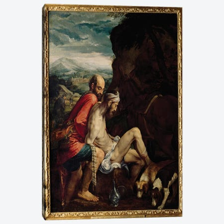 The Good Samaritan, c.1550-70  Canvas Print #BMN3153} by Jacopo Bassano Art Print
