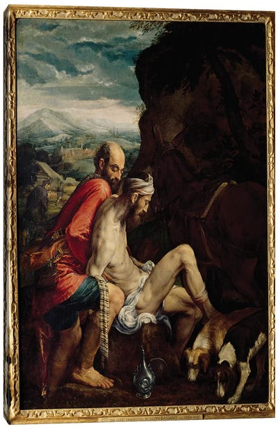 The Good Samaritan, c.1550-70  Canvas Art Print