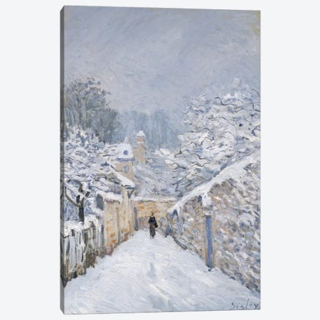 Snow at Louveciennes, 1878  Canvas Print #BMN315} by Alfred Sisley Canvas Print