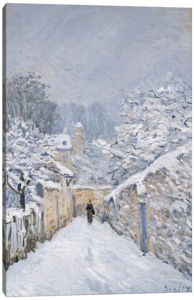 Snow at Louveciennes, 1878  Canvas Art Print