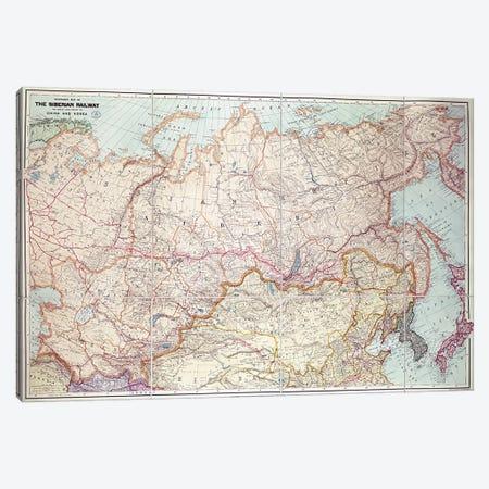 The Siberian Railway  Canvas Print #BMN3164} by English School Canvas Art Print