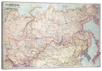 The Siberian Railway  Canvas Art Print