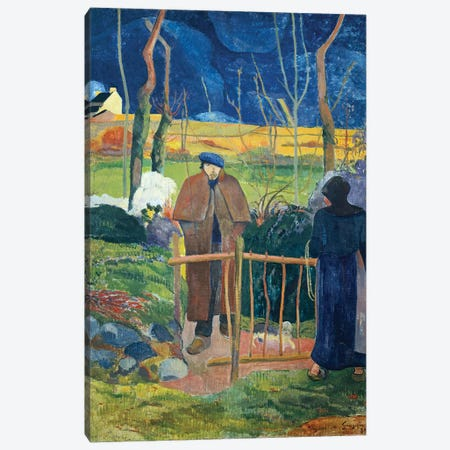 Bonjour, Monsieur Gauguin, 1889  Canvas Print #BMN3166} by Paul Gauguin Canvas Print