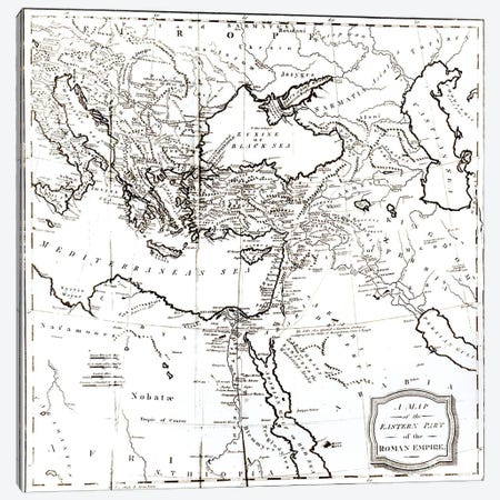 Map Of The Eastern Part Of The Roman Empire, The History Of The Decline And Fall Of The Roman Empire Canvas Print #BMN3168} by English School Canvas Artwork