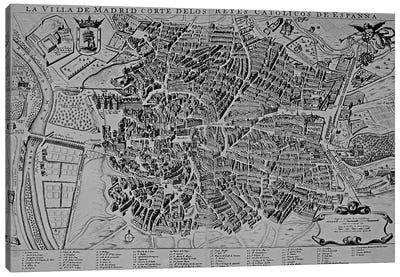 Map of Madrid  Canvas Art Print
